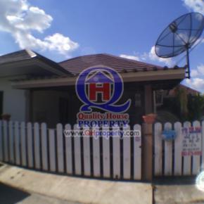 บ้านเดี่ยวชั้นเดียว หลังมุม หมู่บ้านทองรุ่งโรจน์ (พนัสนิคม) 43 ตร.วา สวย น่าอยู่มาก ราคาถูก สามารถต่อรองราคาได้ ด่วน