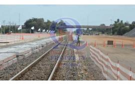 อาคม ตรวจความคืบหน้าสร้างรถไฟทางคู่ที่โคราช ล่าสุดคืบหน้าไปแล้ว 35%